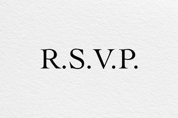How to RSVP by Post to a Wedding Invitation – Monoset