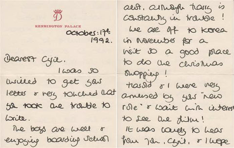 Princess Diana Letter