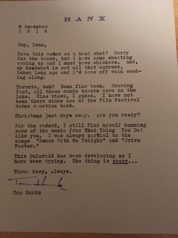 Tom Hanks Letter
