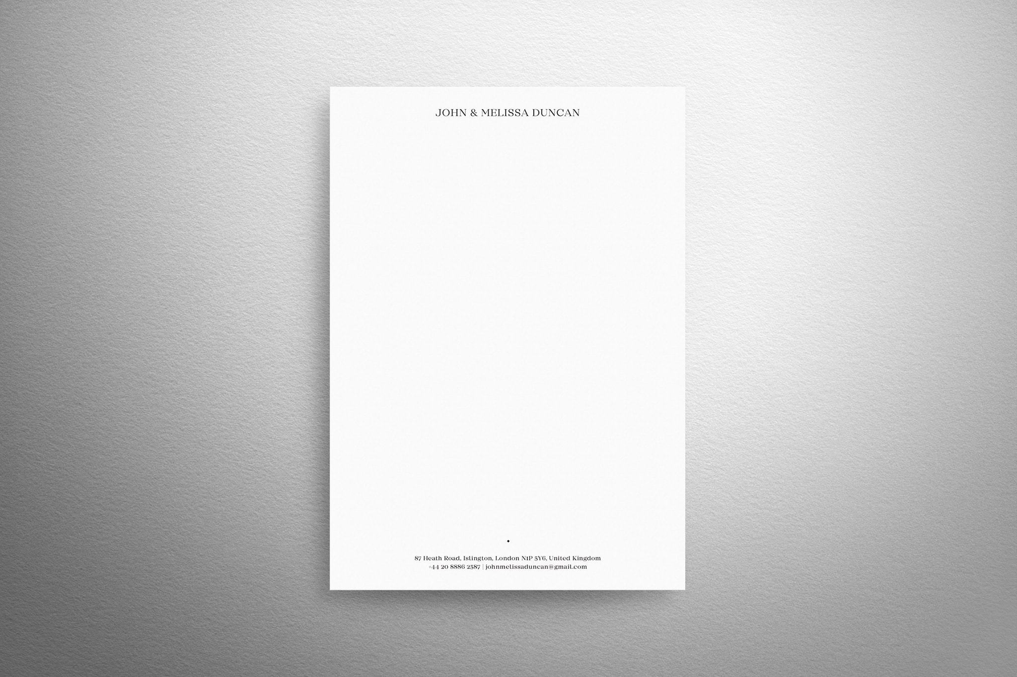 Traditional Letterheads