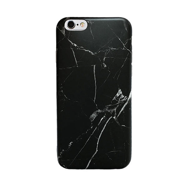 Marble iPhone Case - Simple Black