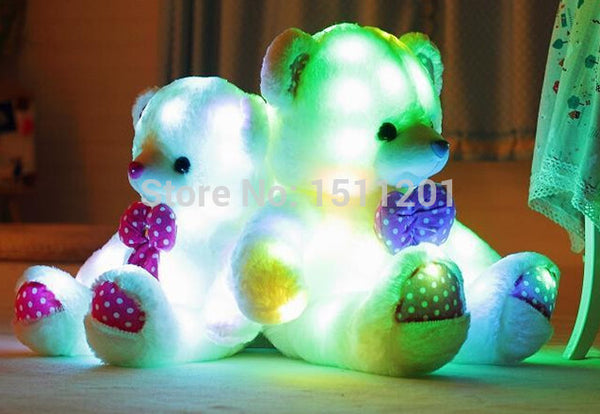 New arrival luminous teddy bear plush toy doll birthday ice cream Valentines Day gift to send girls