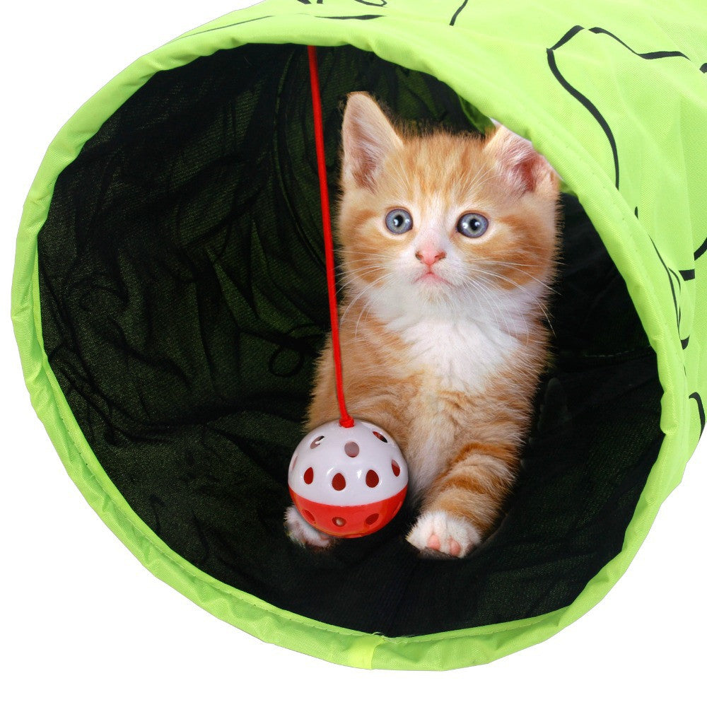 Green Cat Tunnel With Ball