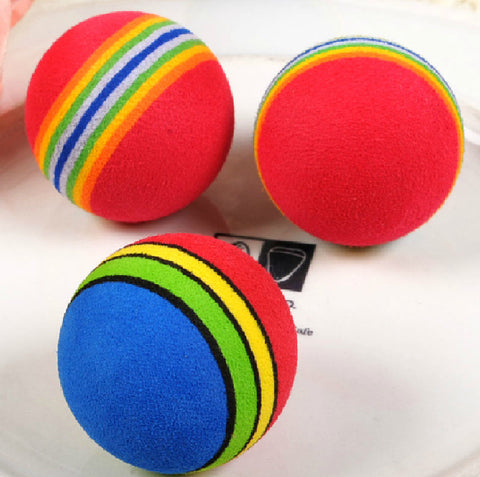 Rainbow Cat Toy Balls