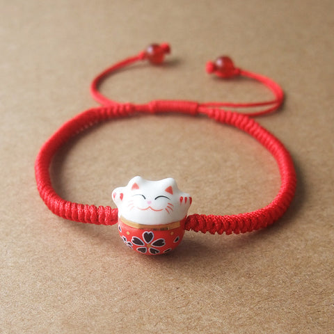 Cute Ceramic Lucky Cat Bracelet