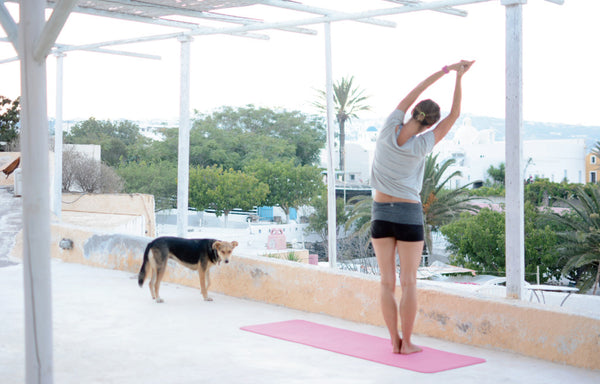 A World Connected by Yoga — Santorini By Sandra