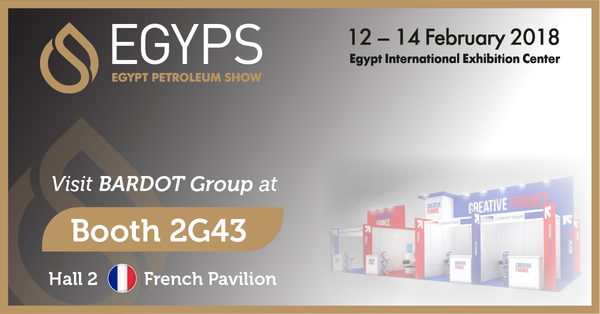 BARDOT Group will be at the Egypt Petroleum Show EGYPS in Cairo from 12 to 14 February