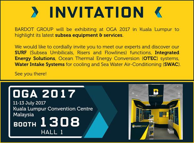 BARDOT GROUP will be exhibiting at OGA 2017 in Kuala Lumpur