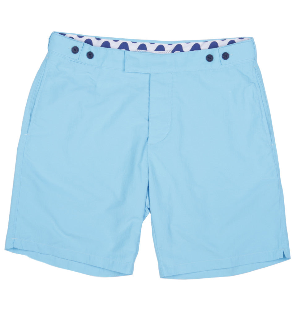 Long Leg Cotton Tailored Swim Shorts