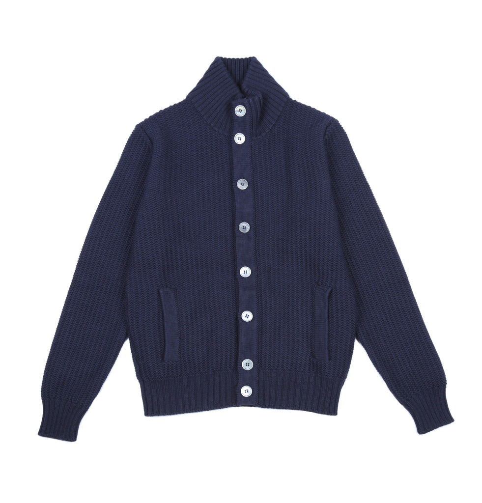 Mock Neck Virgin Wool Chioto Sweater