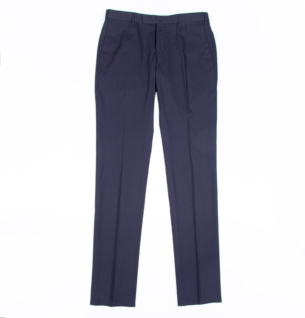 Slim-fit Flat Front Popeline Super Lightweight Pants