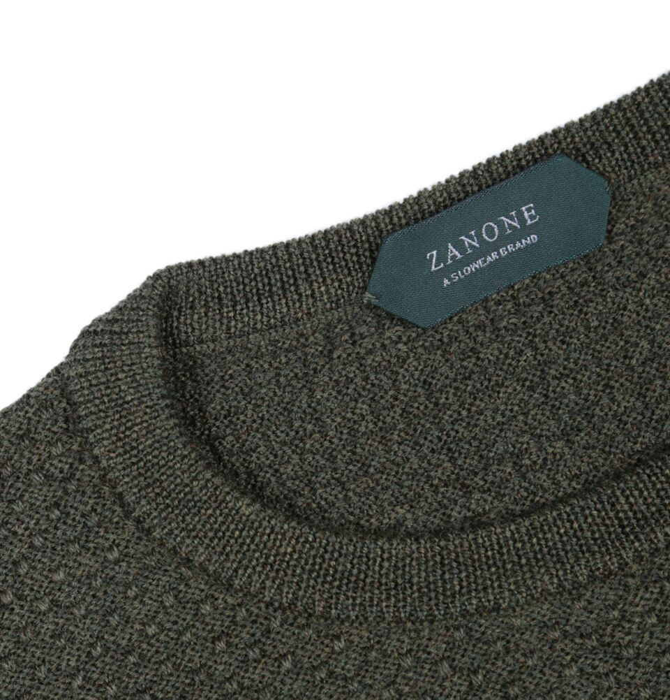 Crew Neck Virgin Wool Sweater