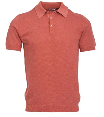 Frosted Garment Dyed Waffle Knitted Polo