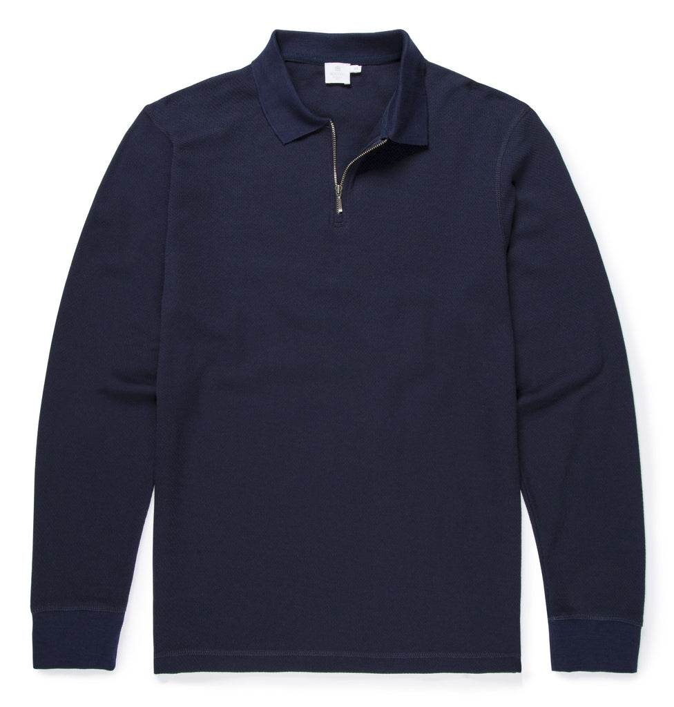 Long Sleeve Zipped Polo