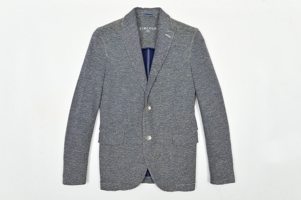 Two Button Cotton Jersey Jacket