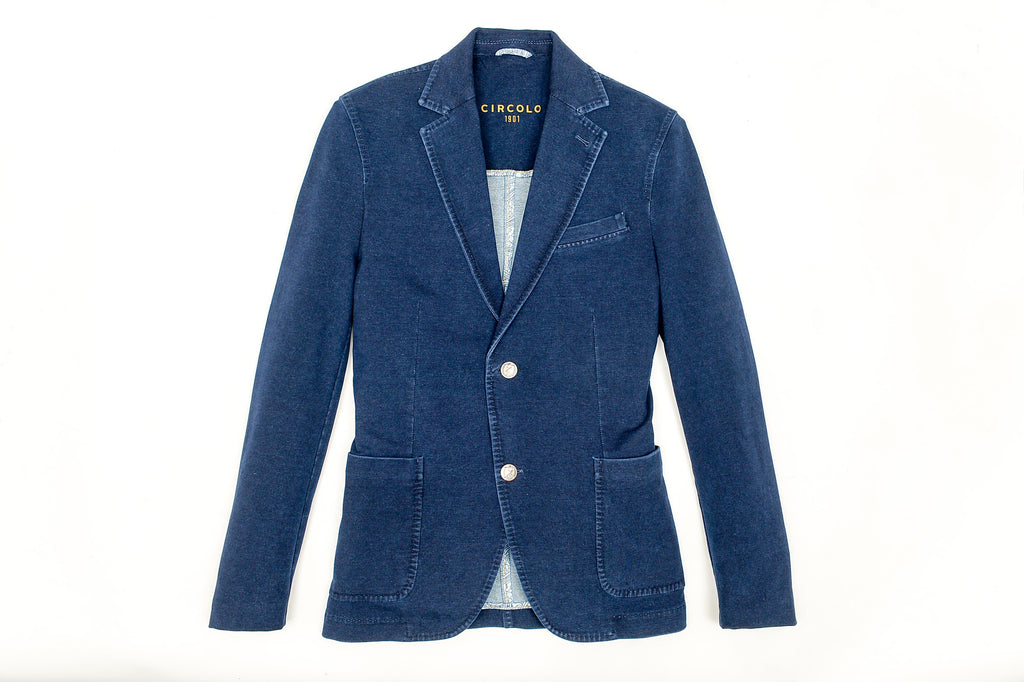Comfortable Fit Cotton Indigo Jacket