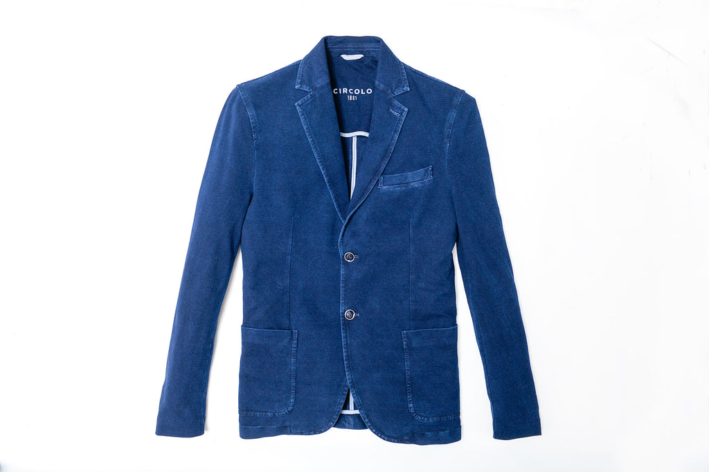 Cotton Indigo Jersey Jacket