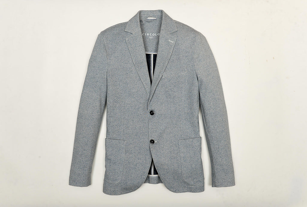 Two Button Cotton and Elastane Suit Jacket