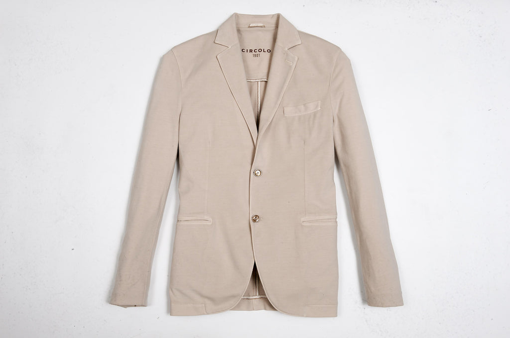 Two Button Jersey Jacket