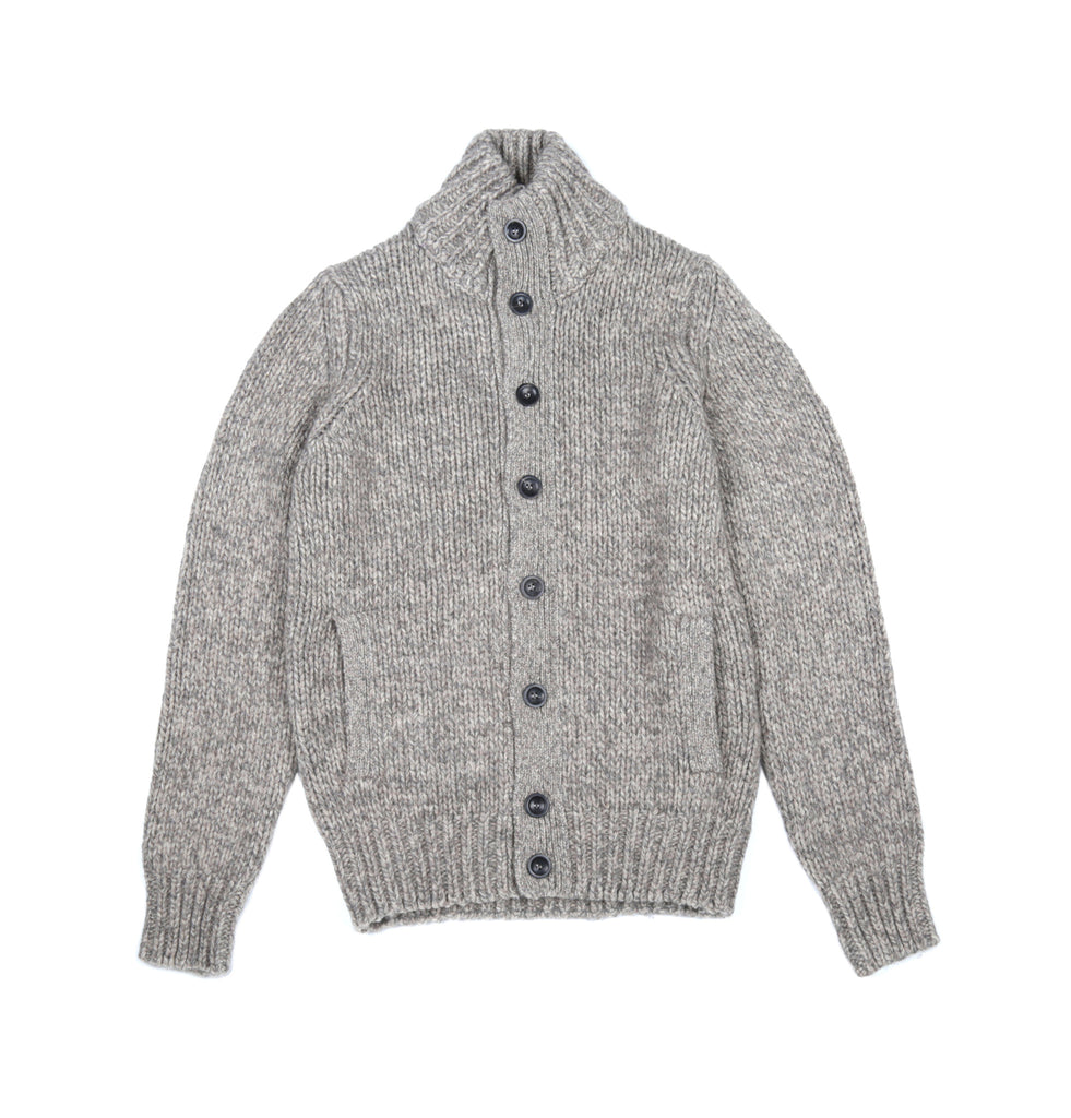 Heavy Knitted Pocket Virgin Wool and Yak Cardigan
