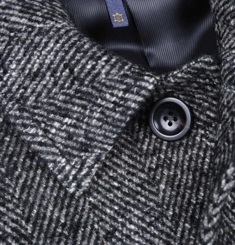 Marco Herringbone Boucle Wool Coat