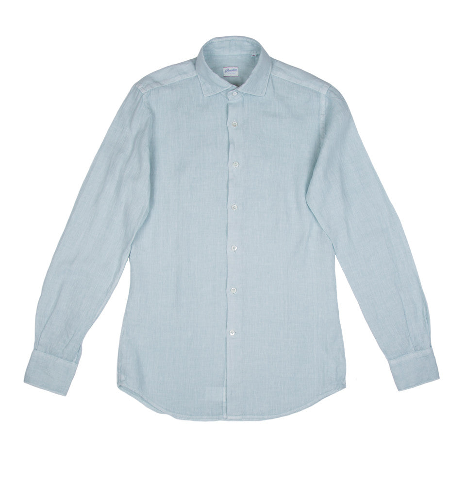 Slim Fit Linen Long Sleeve Shirt