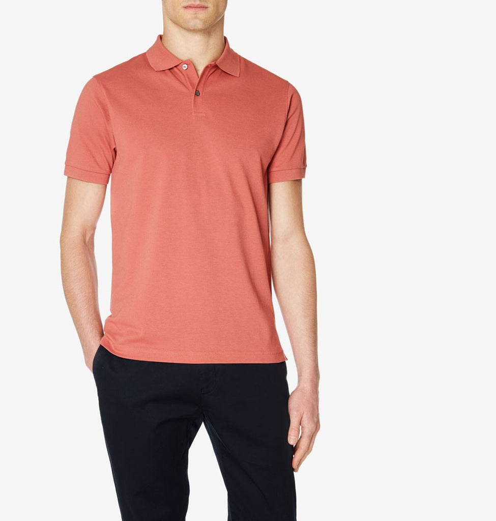 Regular Fit Cotton Pique Short Sleeve Polo