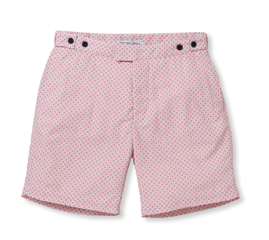 Long Leg Cotton Paraty Tailored Swim Shorts