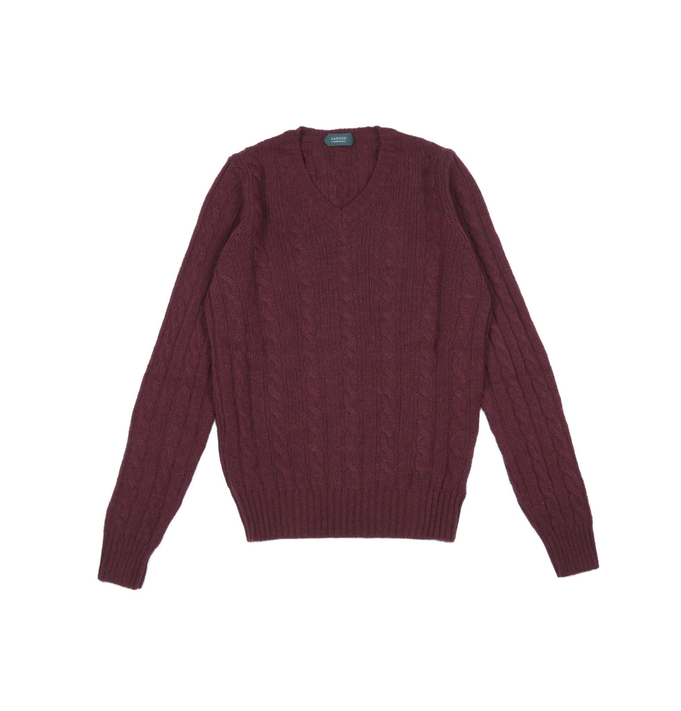 V neck Virgin Wool Sweater