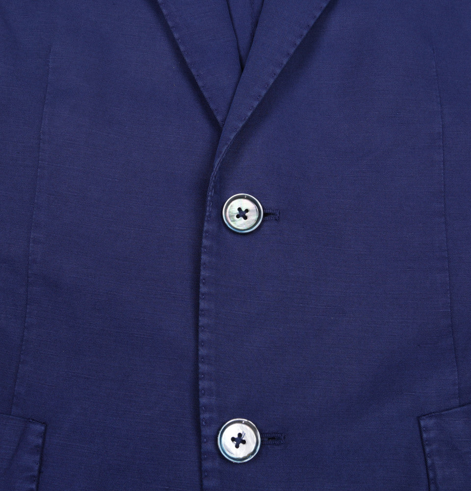 Single Breasted Linen Cotton Blend Chinolino Blazer