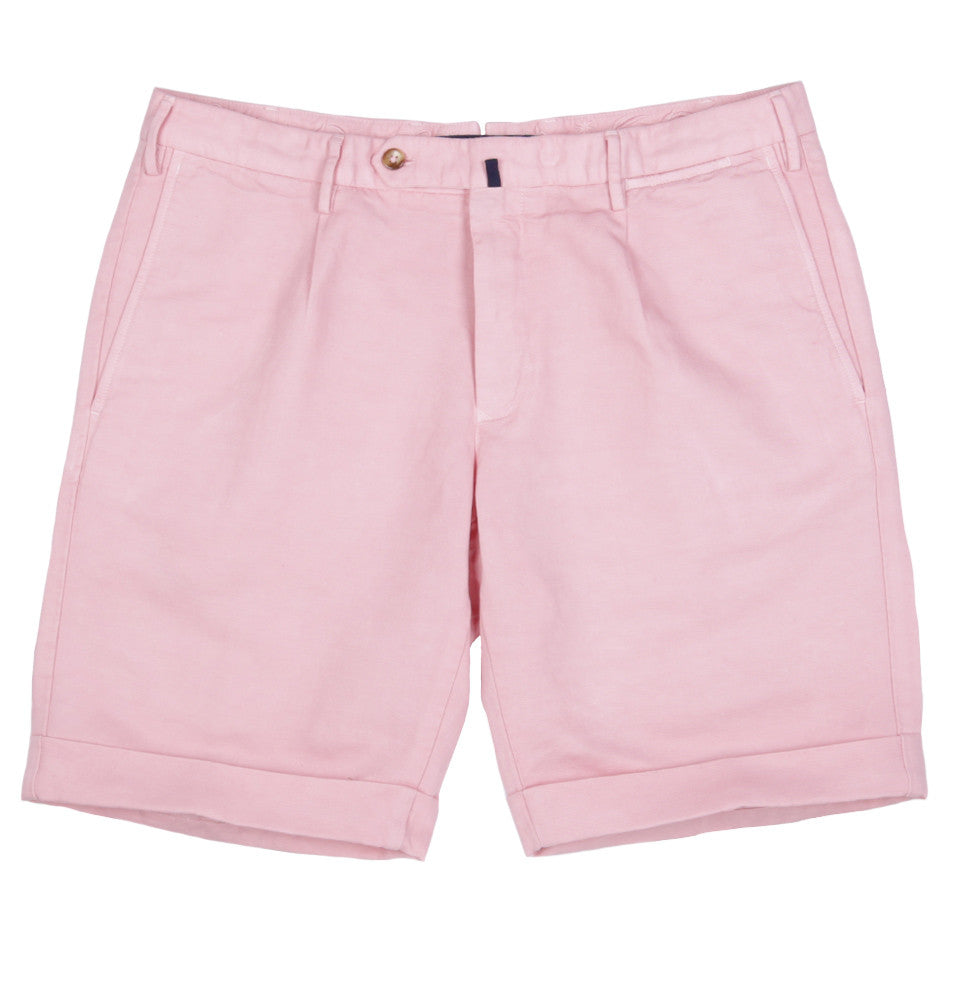 Slim Fit Linen Cotton Blend Chinolino Shorts
