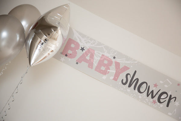 Twinkle Twinkle pink baby shower banner by Little Dot