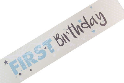 Twinkle Twinkle baby boy first birthday banner by Little Dot Baby Shower