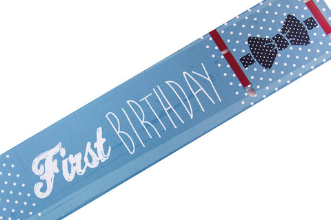Fantastic Mr Baby first birthday banner