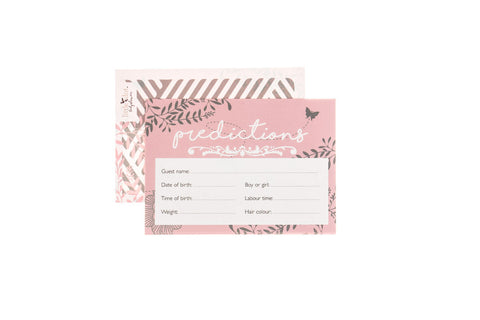 You Are My Sunshine pink - baby shower prediction cards by Little Dot