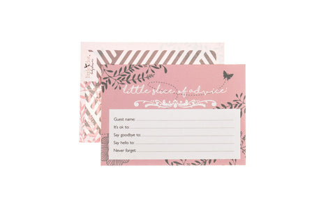 You Are My Sunshine pink advice cards by Little Dot
