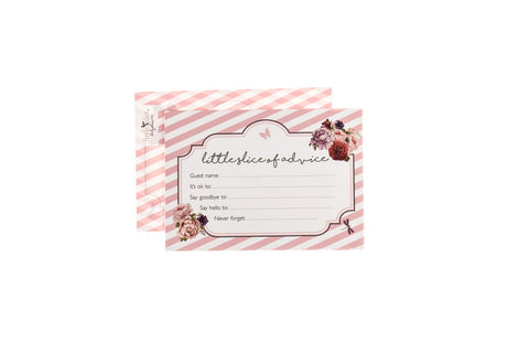 Little Lady - baby shower advice cards by Little Dot Baby Shower
