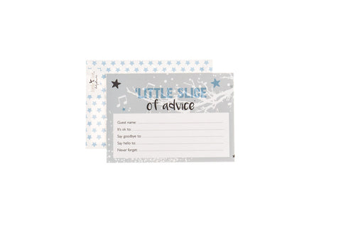 Twinkle Twinkle Blue - Baby Shower Advice Cards by Little Dot Baby Shower