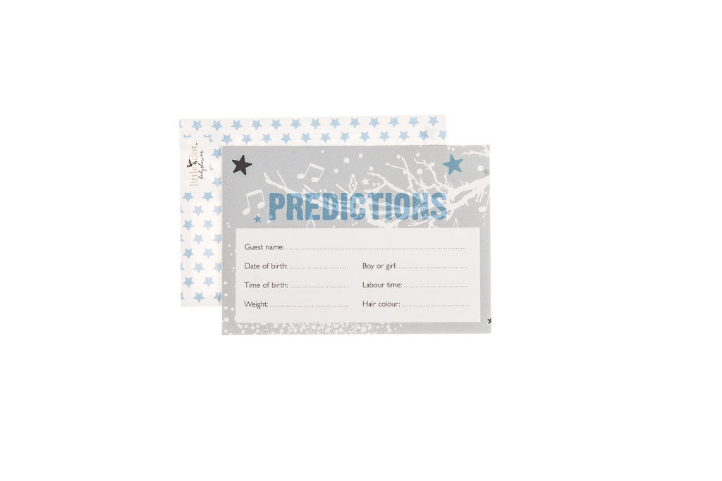 Twinkle Twinkle blue - baby shower prediction cards by Little Dot Baby Shower