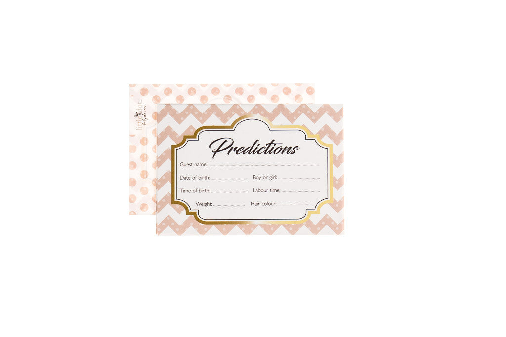 Ready to Pop - baby shower prediction cards by Little Dot Baby Shower