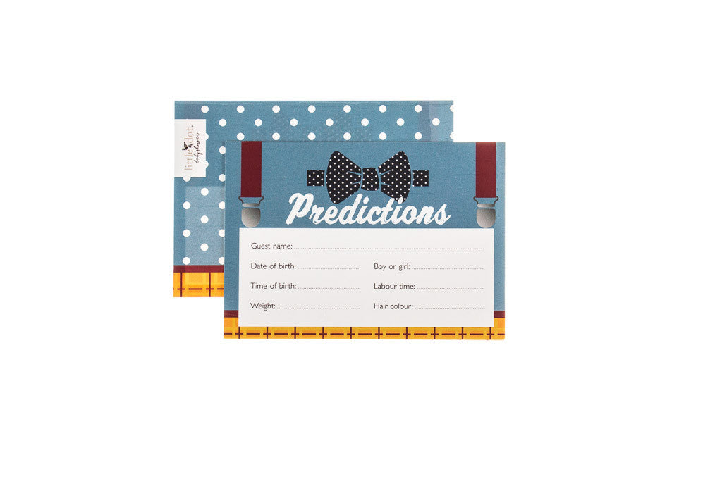 Fantastic Mr Baby - baby shower prediction cards by Little Dot Baby Shower