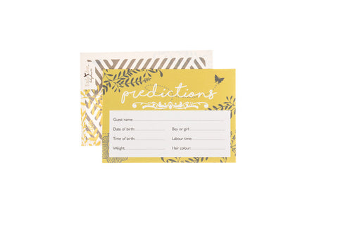 You Are My Sunshine - baby shower prediction cards by Little Dot