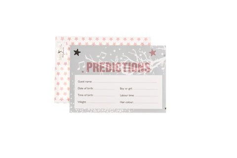 Twinkle Twinkle pink - baby shower prediction cards by Little Dot