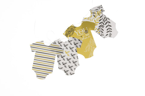 You Are My Sunshine baby grow bunting by Little Dot Baby Shower