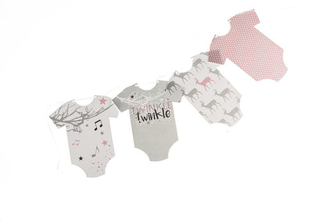 Twinkle Twinkle baby girl grow bunting by Little Dot Baby Shower
