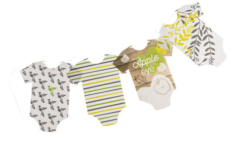 You'e The Apple of My Eye baby grow bunting by Little Dot