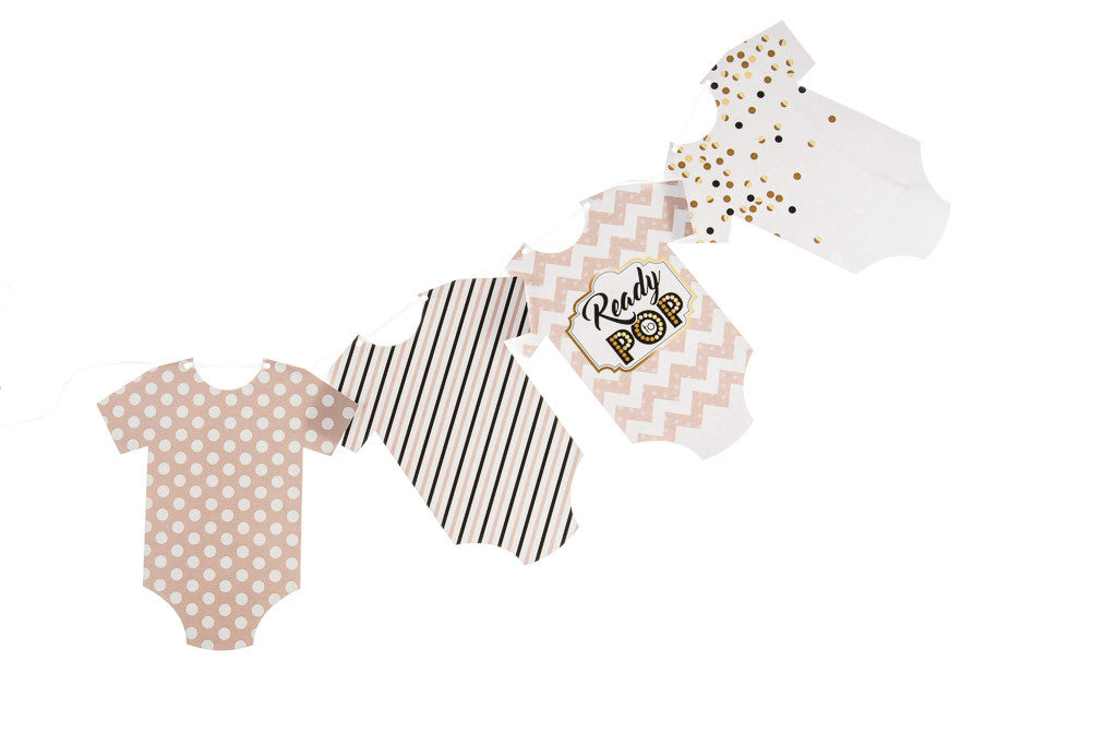 Ready to Pop Baby Grow Bunting by Little Dot Baby Shower