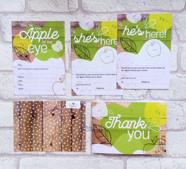 You're the Apple of my Eye card set by Little Dot