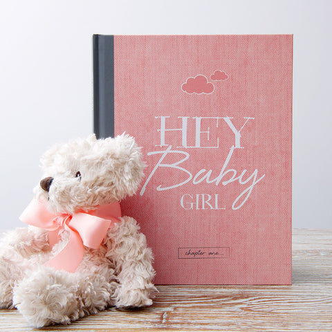 Hey Baby - Baby Girl Baby Journal sold by Little Dot Baby Shower