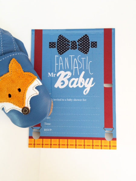 Fantastic Mr Baby - Baby Shower Invitations by Little Dot Baby Shower